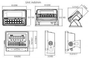 CAS CI200SC WaterproofPlatform Bench Scale dimensions