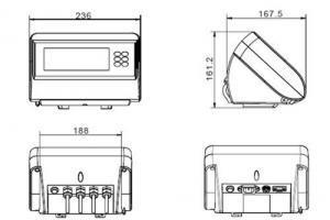 CAS DH Platform Bench Scale dimensions