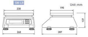 CAS SW LR Basic Scale dimensions