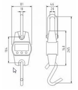 SENS OCS L Mini Crane Scale dimensions