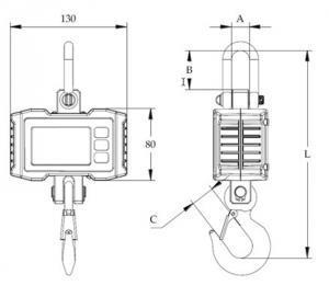 SENS OCS S Compact Crane Scale dimensions