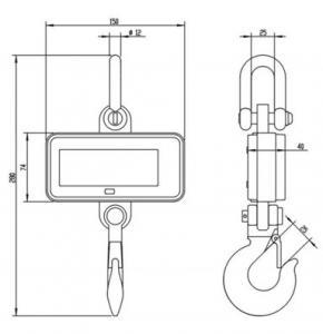 SENS OCS S1 Compact Crane Scale dimensions