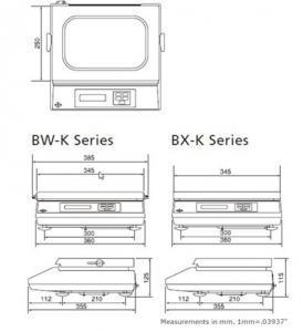 Shimadzu BX Precision Balance drawings