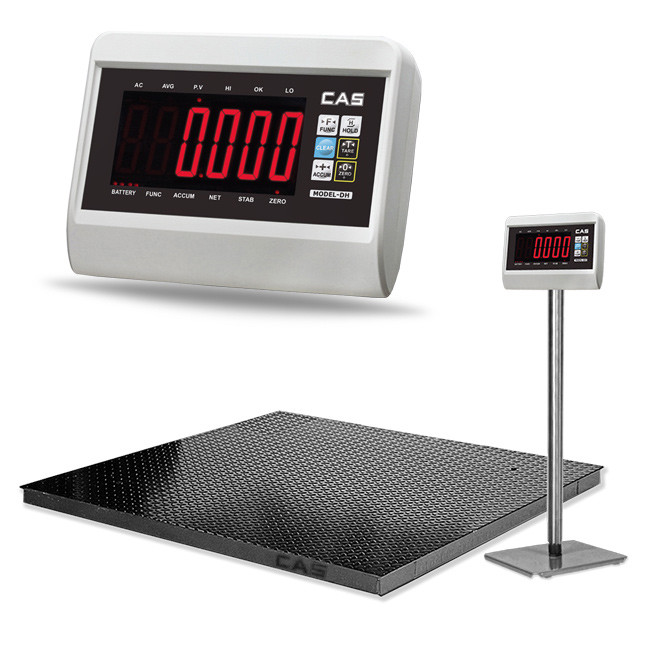 CAS DH Floor Scale->DH-2020-5 / 2.0x2.0 m / Min 5 Kg to Max 5 ton / 1 Kg