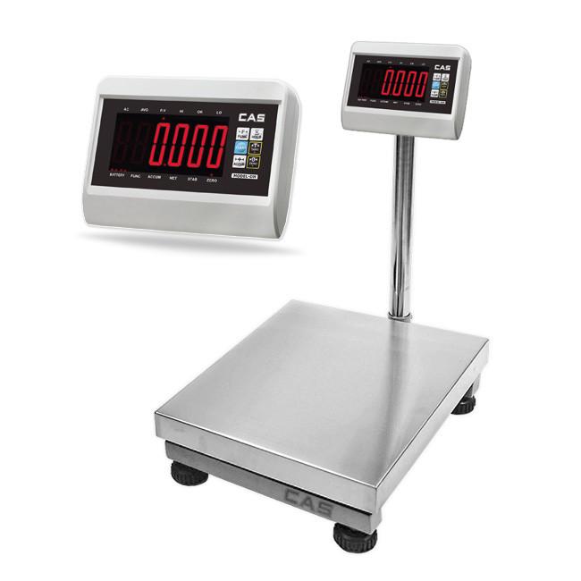 CAS DH Platform Bench Scale->DH-3040-60 / 30 x 40 CM / Up to 60 Kg / 5 gm