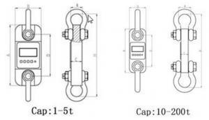 SENS DL Dynamometer dimensions