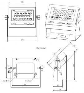 inscale LP7510 Floor Scale dimensions