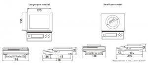 Shimadzu ELB Precision Balance dimensions