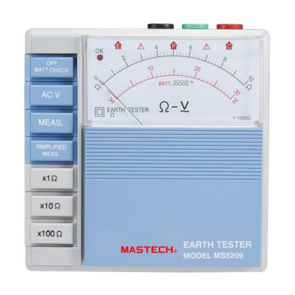 Mastech MS5209 Analog Earth Resistance Tester