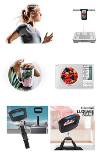 digital scales, bathroom scale, kitchen scale, luggage scale