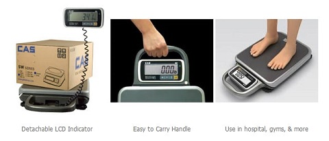 portable scale, mobile scale, CAS PB