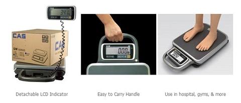 portable scale, mobile scale, CAS PB